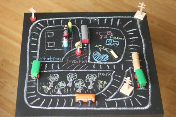 Chalkboard-Table-Train-Tracks