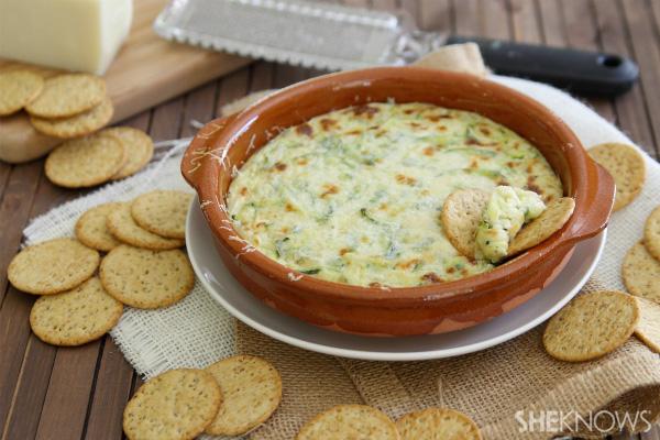 Cheesy zucchini dip