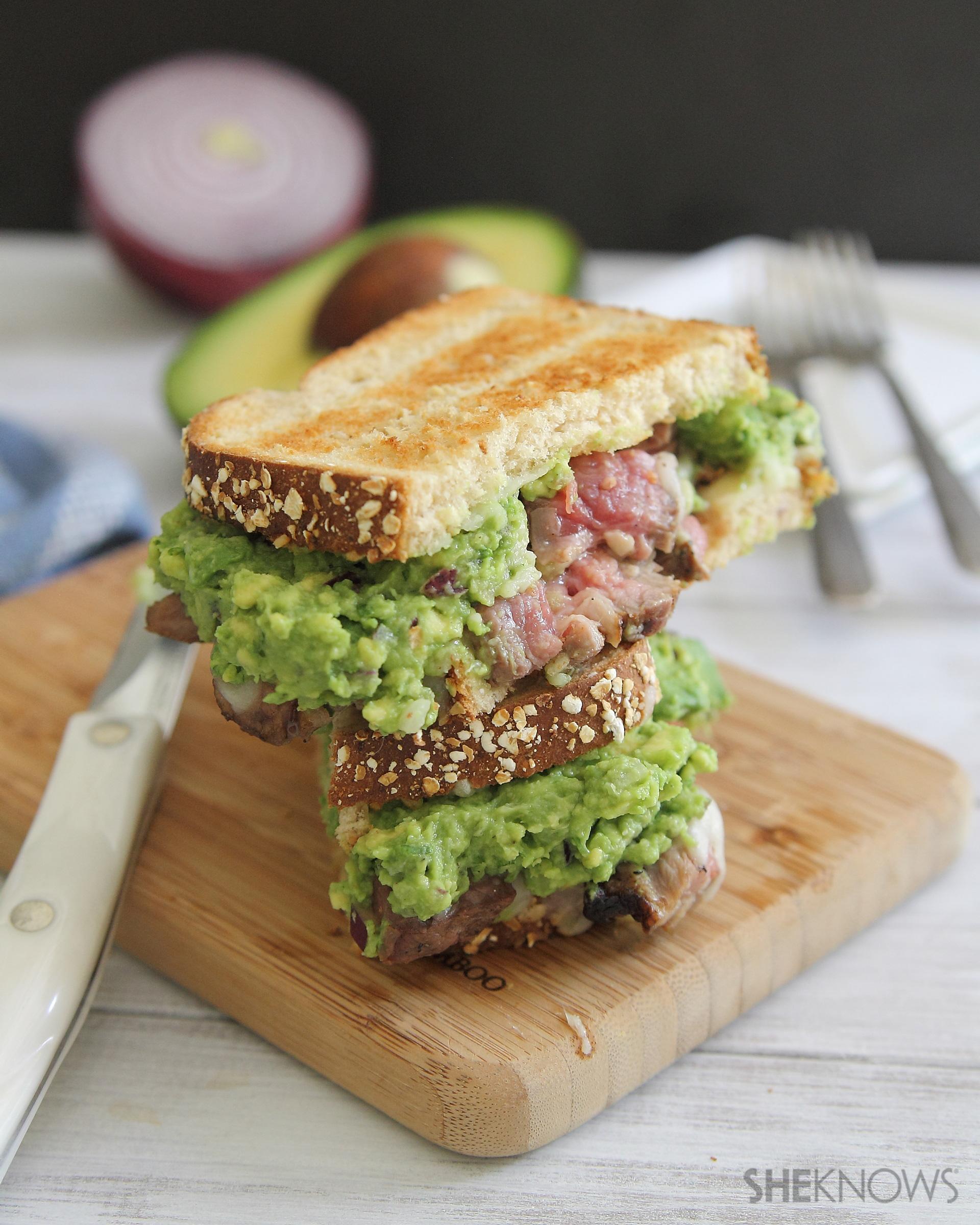 guacamole steak sandwich