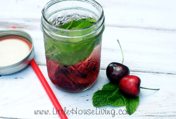 cherry mint infused water