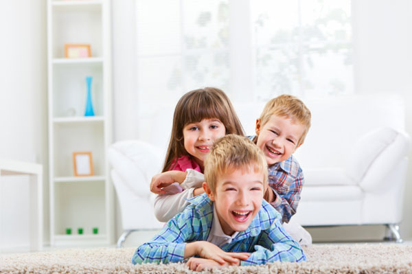 Kids playing indoors