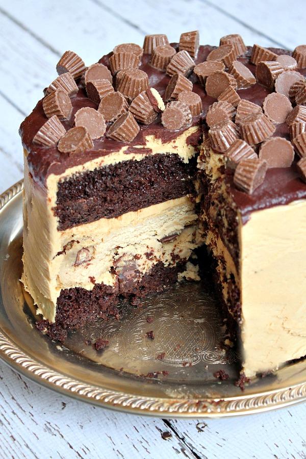 chocolate peanut cake