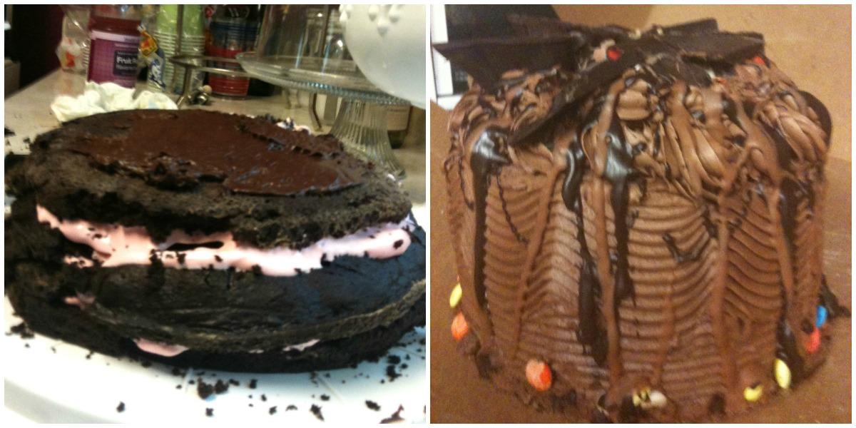 chocolate strawberry cake fail