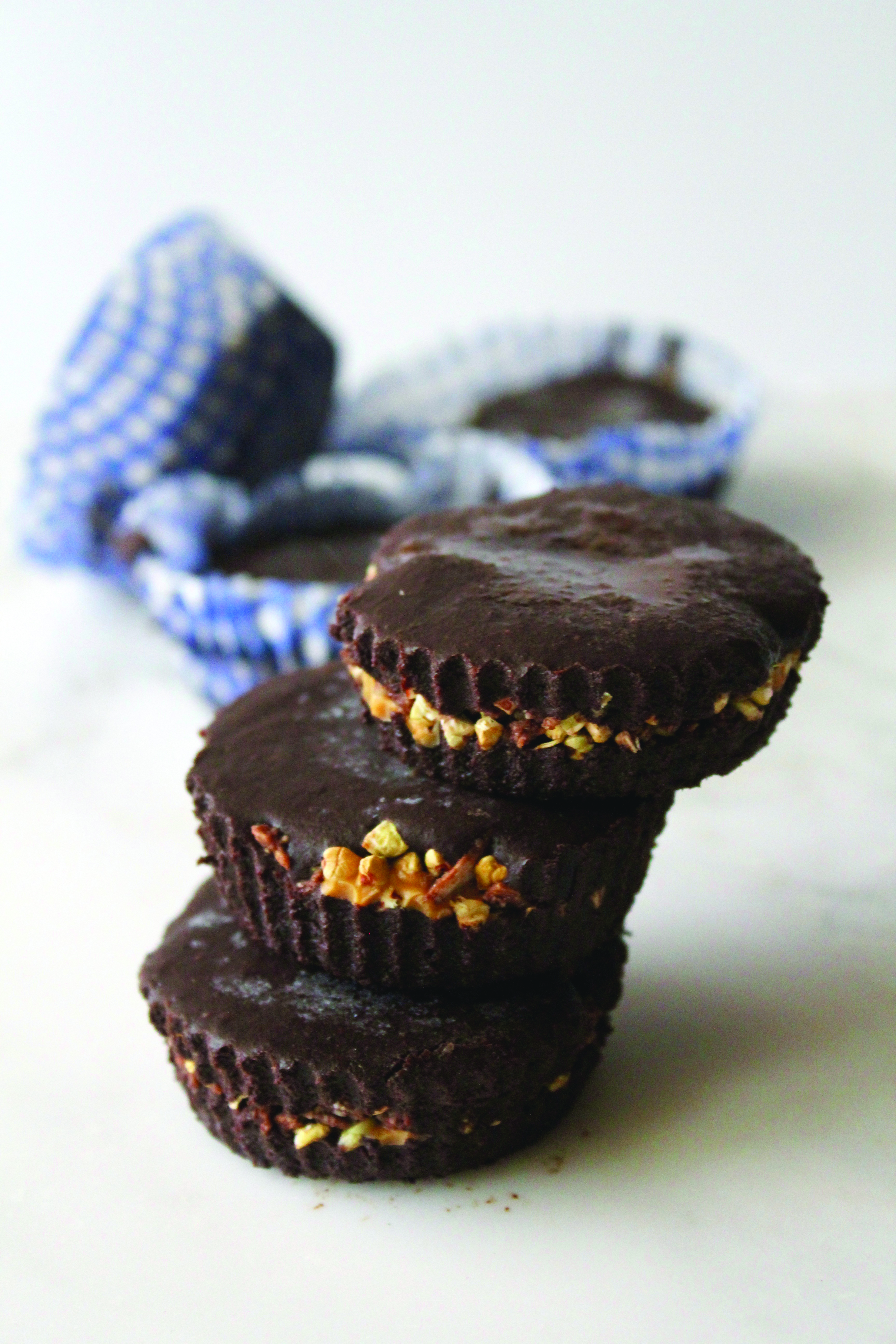 raw chocolate peanut butter cup