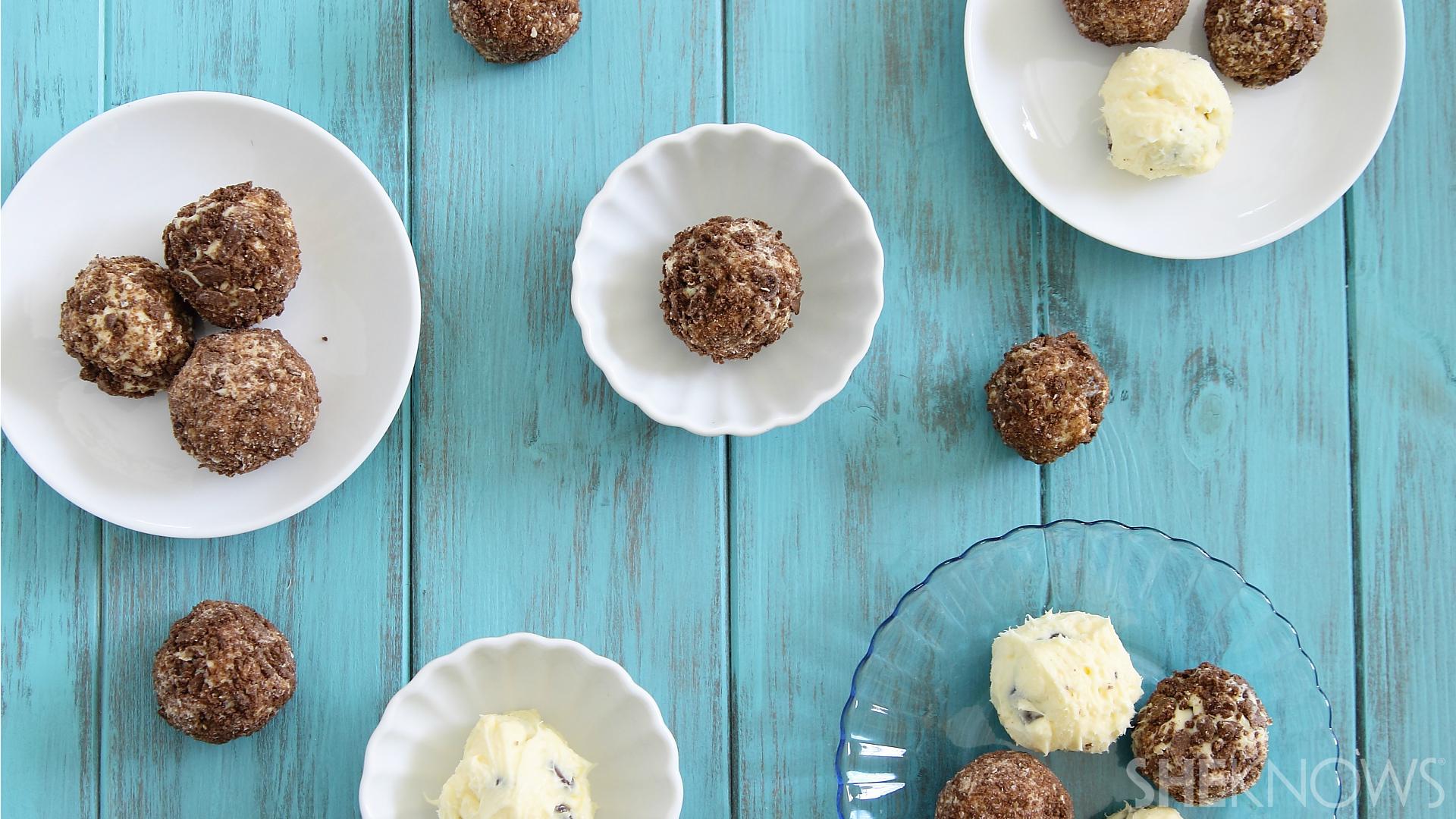 Chocolate chip cheesecake balls