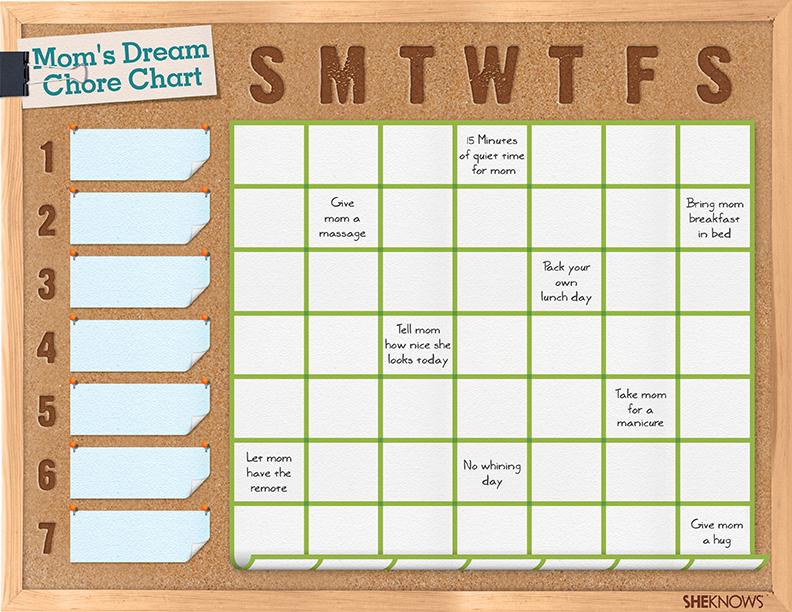 Mom's dream chore chart