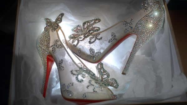 Christian Louboutin Cinderella shoes