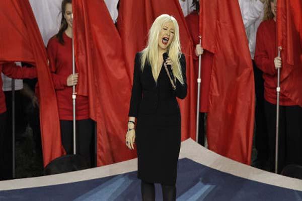 Christina Aguilera national anthem super bowl