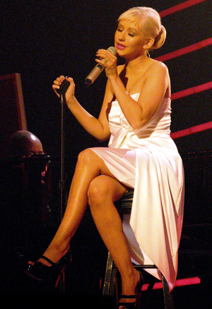 Christina Aguilera performs during Grammy nomination concert