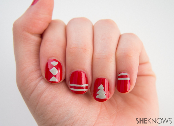 Christmas sweater nail design | Sheknows.com -- main design