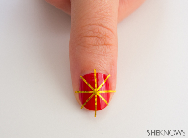 Christmas sweater nail design | Sheknows.com -- details