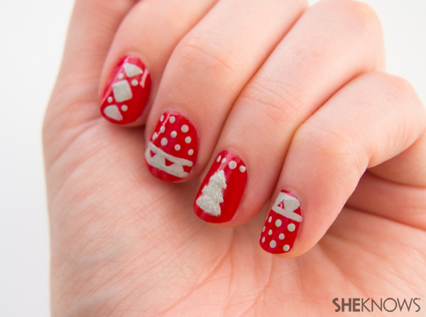 Christmas sweater nail design | Sheknows.com -- fur
