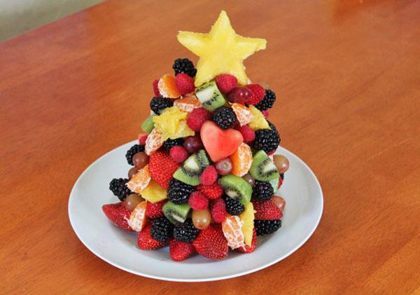Naturally sweet Christmas tree treat