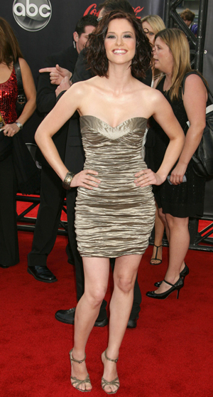 Chyler Leigh at the American Music Awards says hello to SheKnows