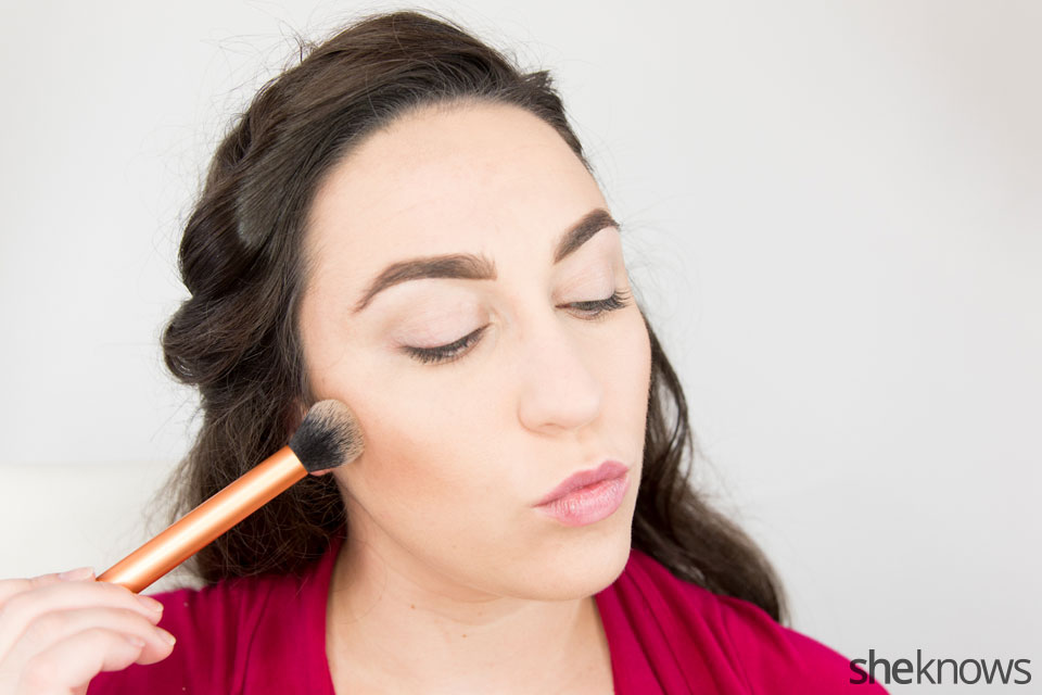Classic Wonder Woman makeup tutorial: Step 2