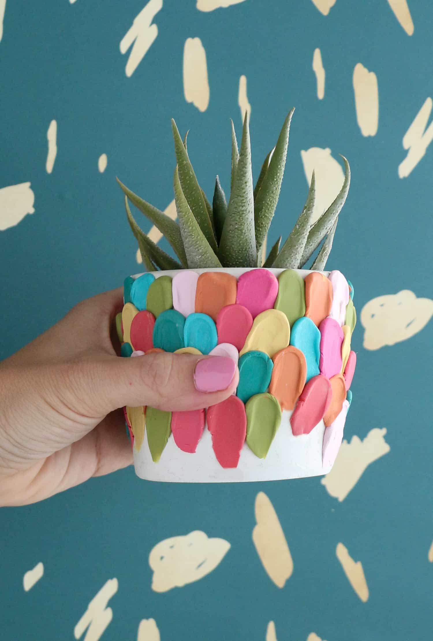 Clay petal planter