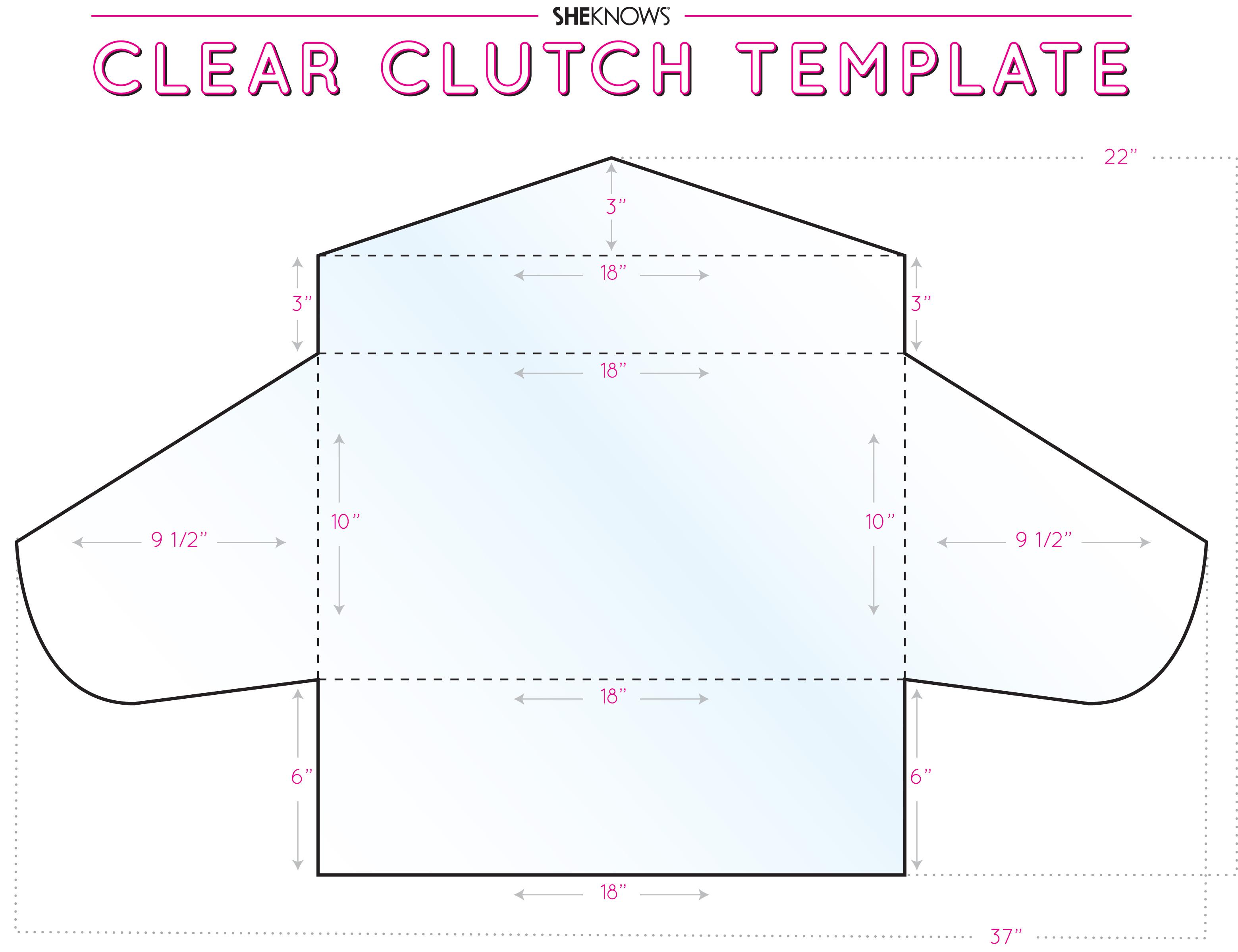 Clear vinyl clutch template