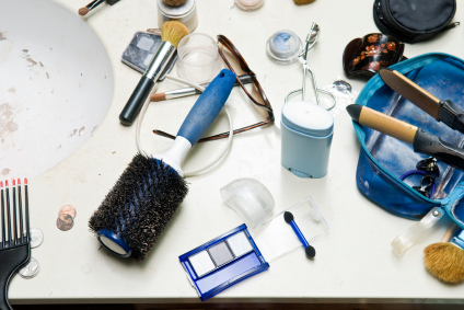 Don't Be a Hoarder - Cluttered Bath Counter