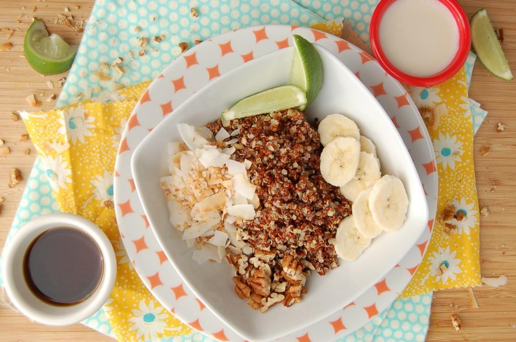 Coconut Lime Quinoa Breakfast Bowl