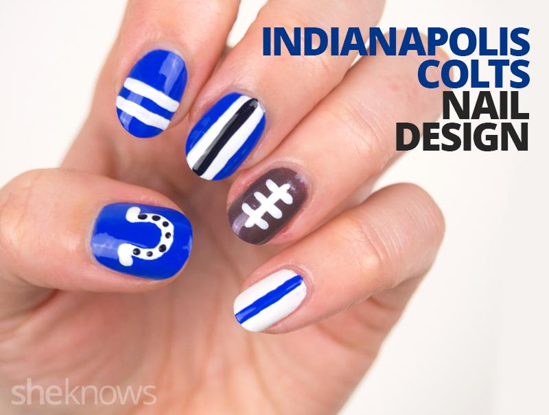 Indianapolis Colts nail design