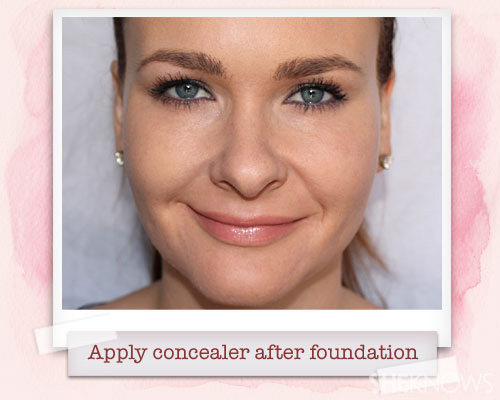 Concealer after foundation