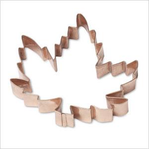 Fall copper cookie cutters