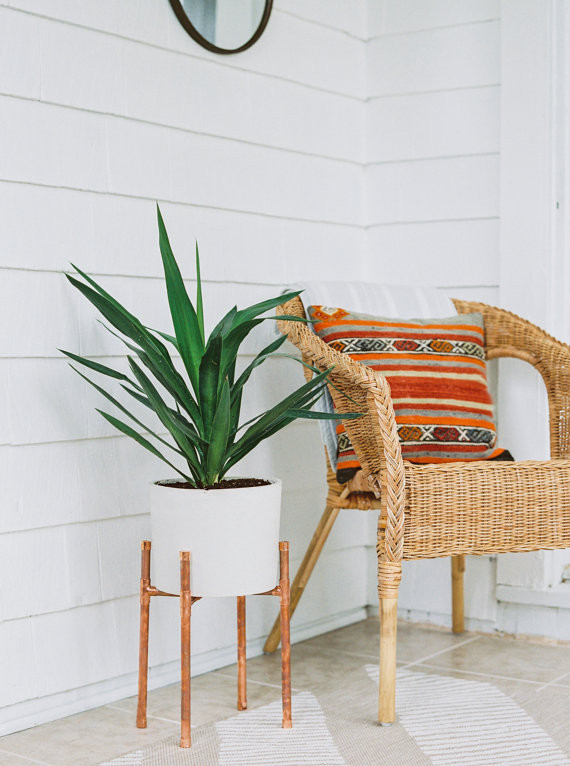 Best Planters on Etsy | Copper and Concrete Planter