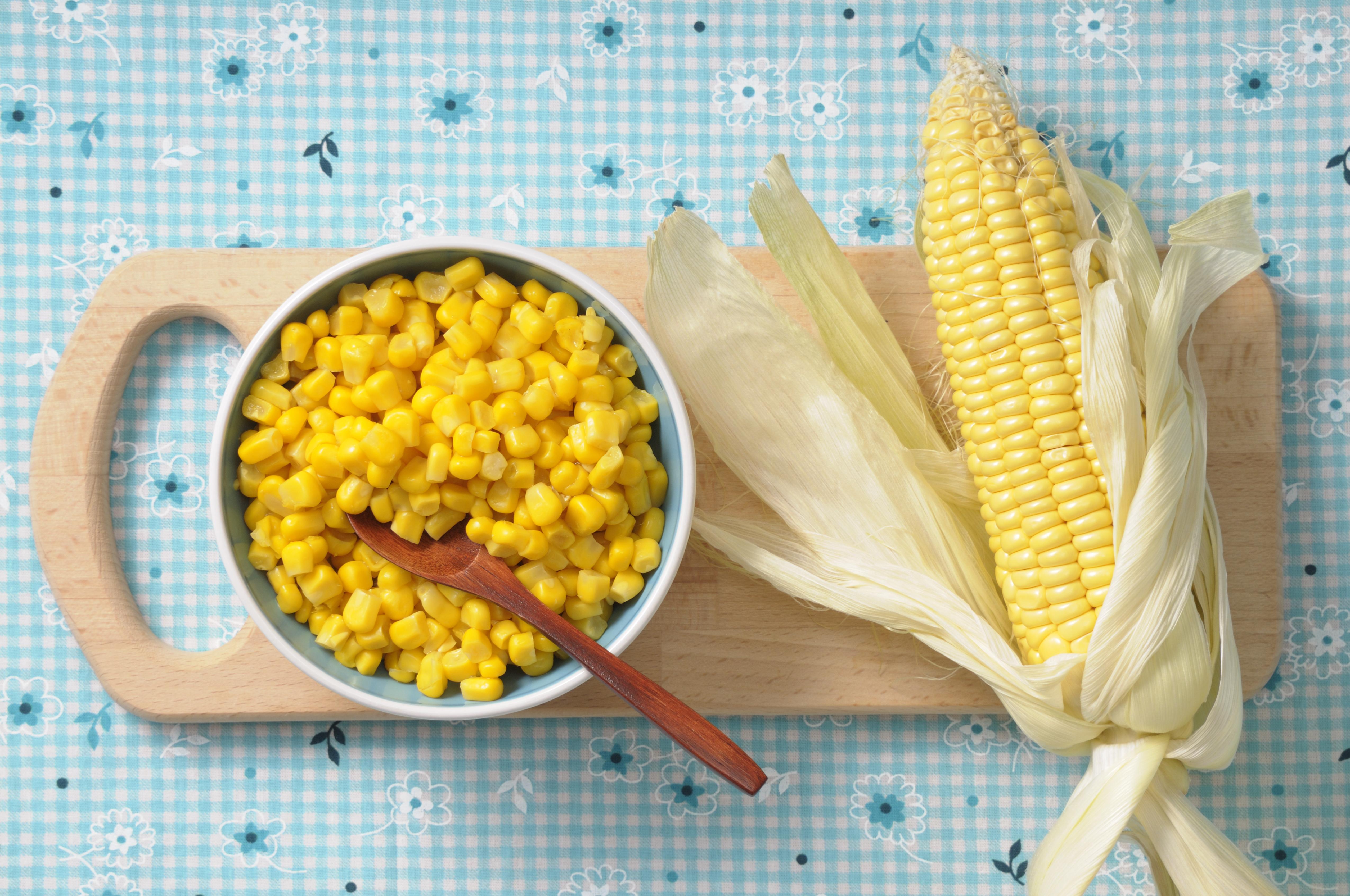 Corn in bowl