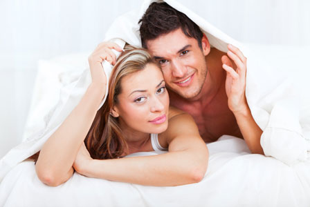 Couple under the covers