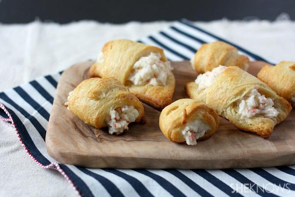 Crab and cream cheese crescent rolls