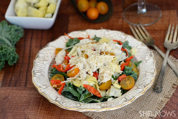 Crab & artichoke salad
