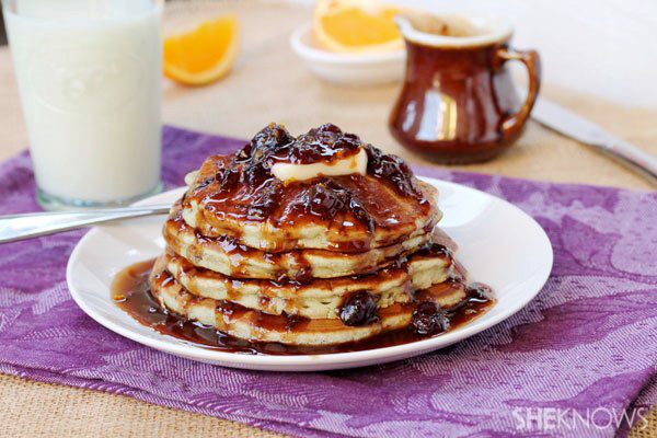 Cranberry and orange pancakes with cranberry syrup recipe