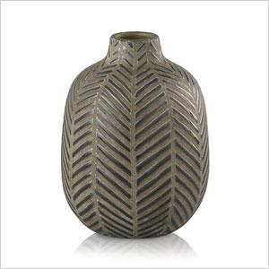 rustic chevron vase