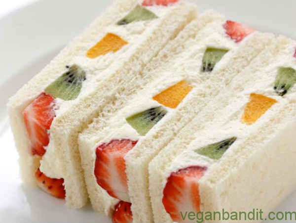 Cream cheese fruit sandwiches