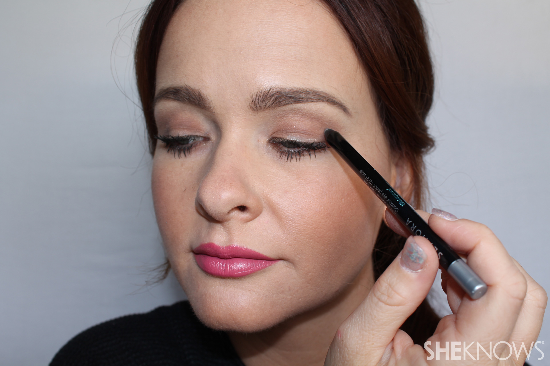 The Triangle Step 1: Draw along lash line