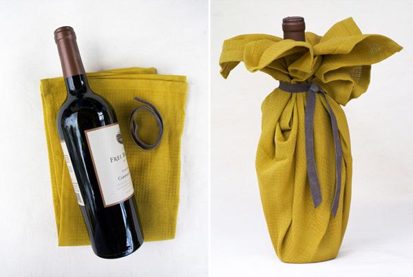 DIY wine-bottle towel
