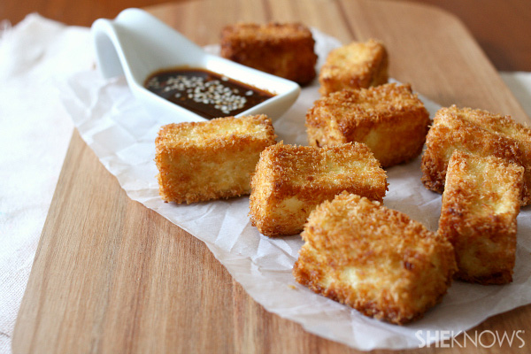 Crispy panko tofu bites