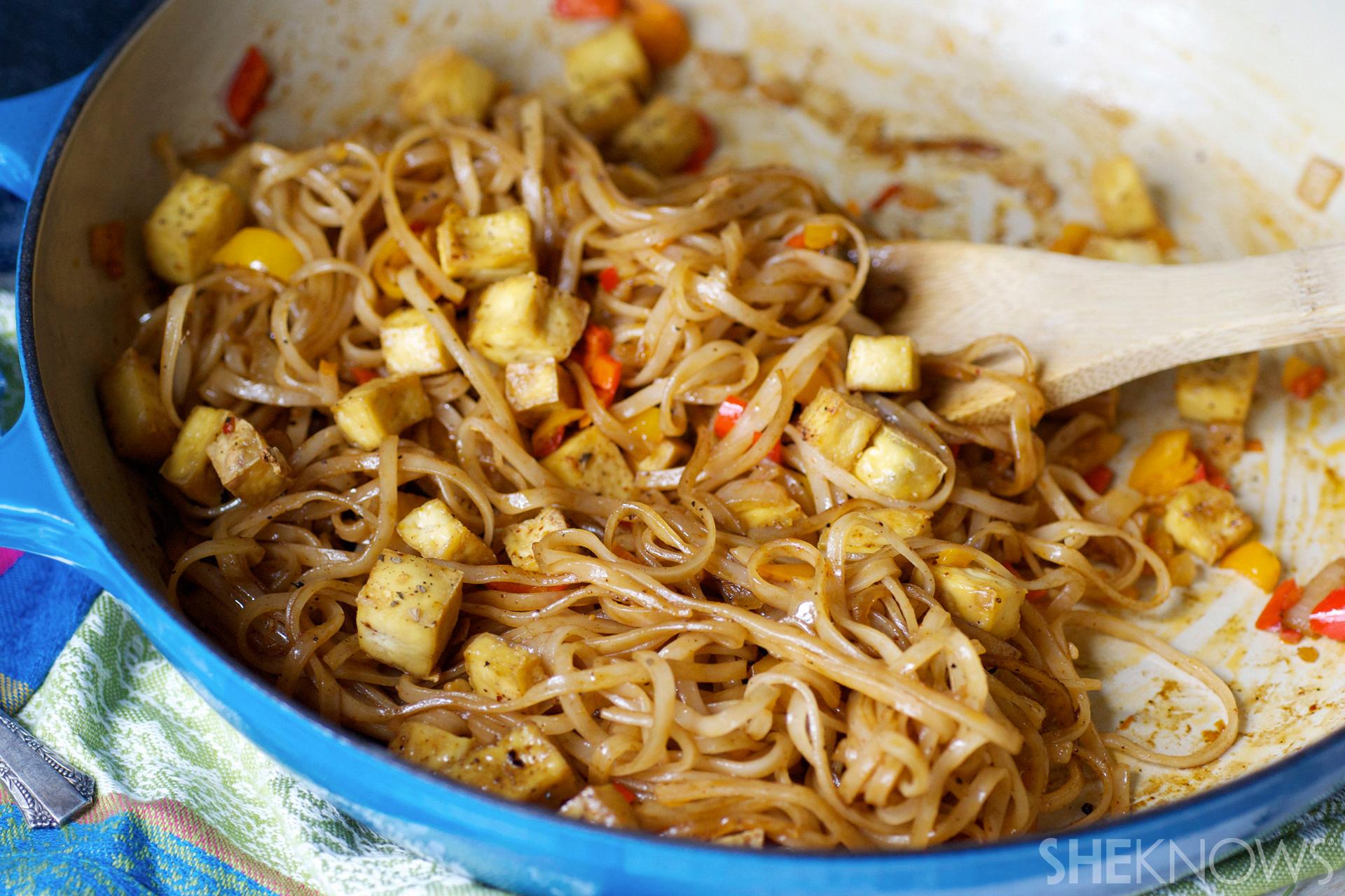 Crispy tofu noodles