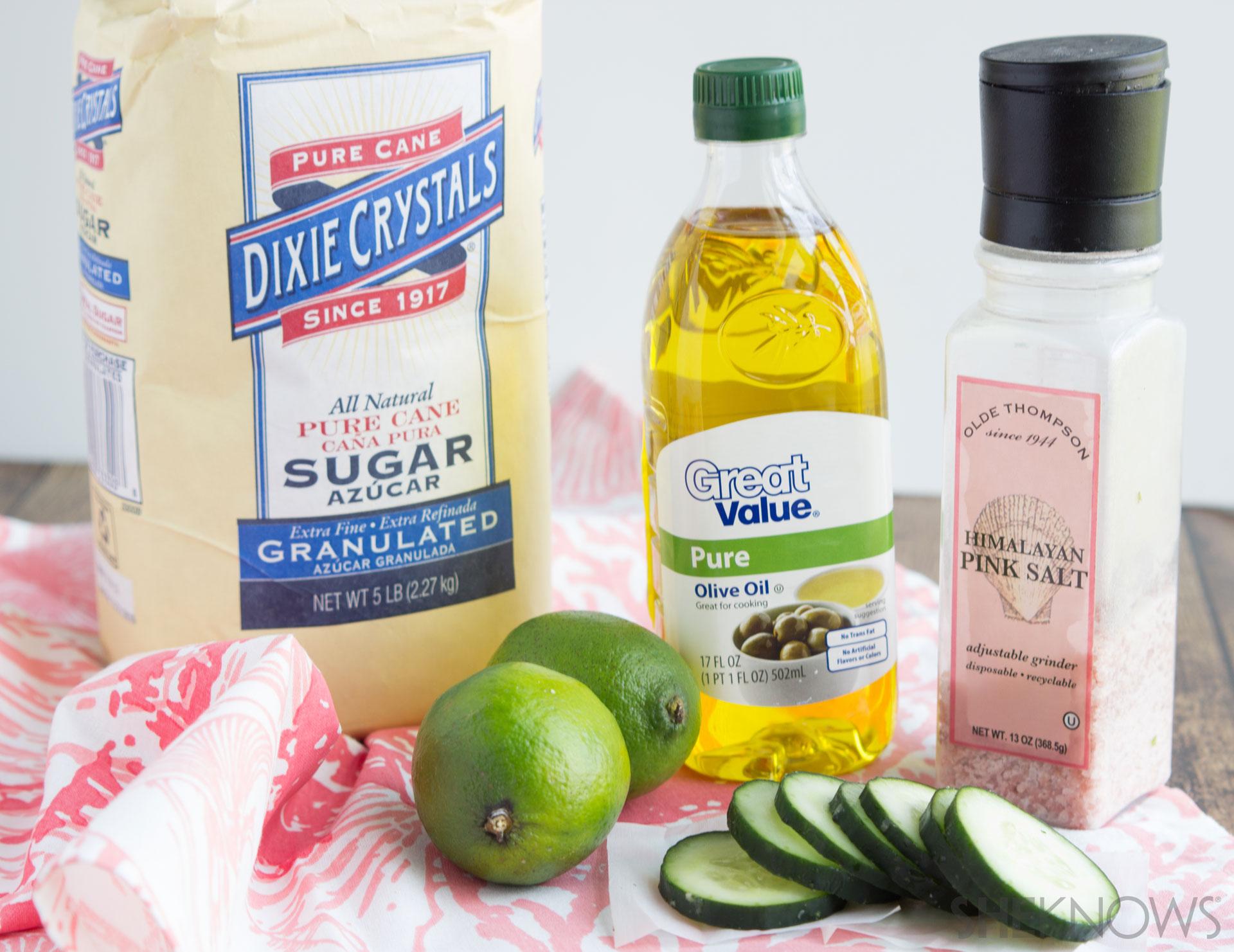 Margarita DIY facial scrub Ingredients