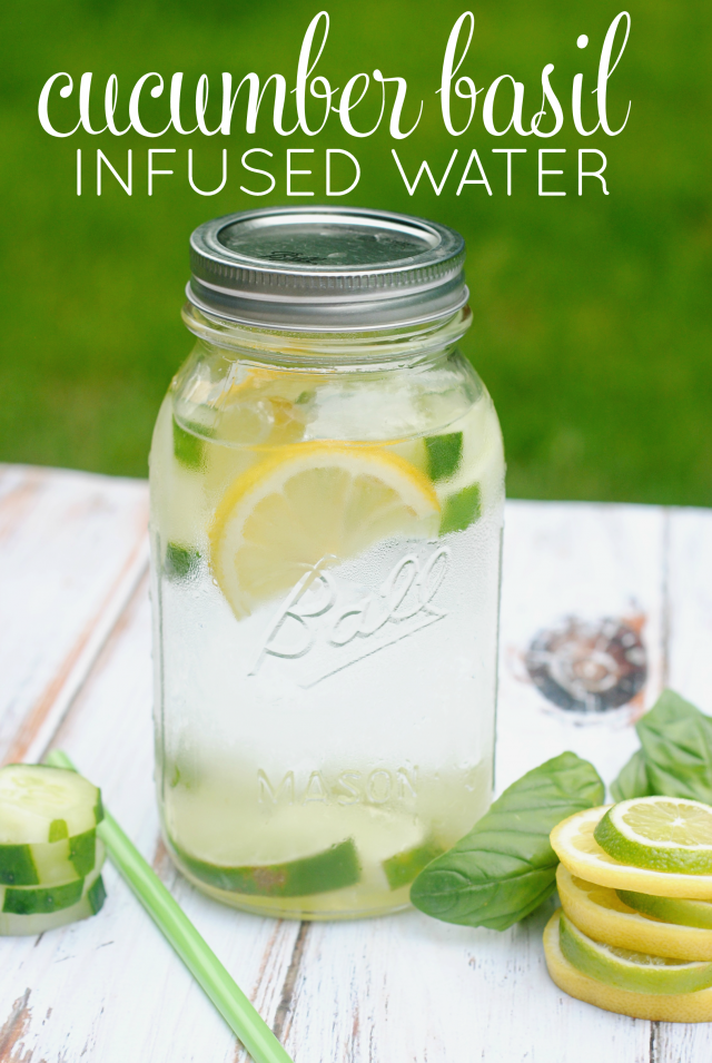 cucumber basil water