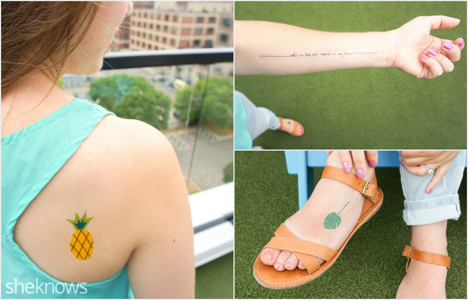 picture relating to Printable Temporary Tattoos known as Printable short-term tattoos that crank out summer months style and design hence a great deal