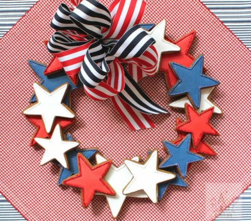 Sugar cookie wreath