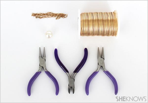 DIY Caged bird necklace: Supplies