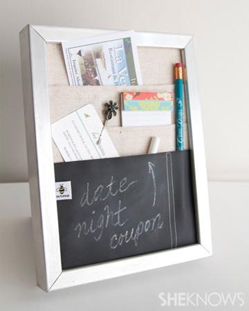 DIY Countertop message center