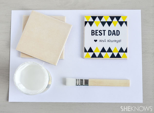 DIY personalized coasters for Father's Day: Supplies