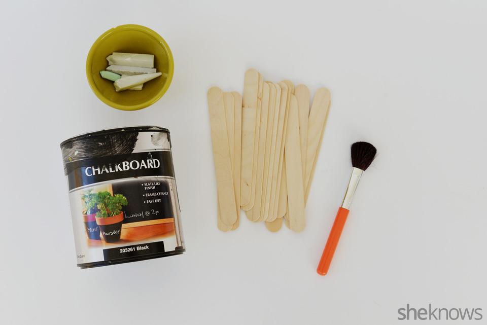 DIY chalkboard garden markers: Supplies