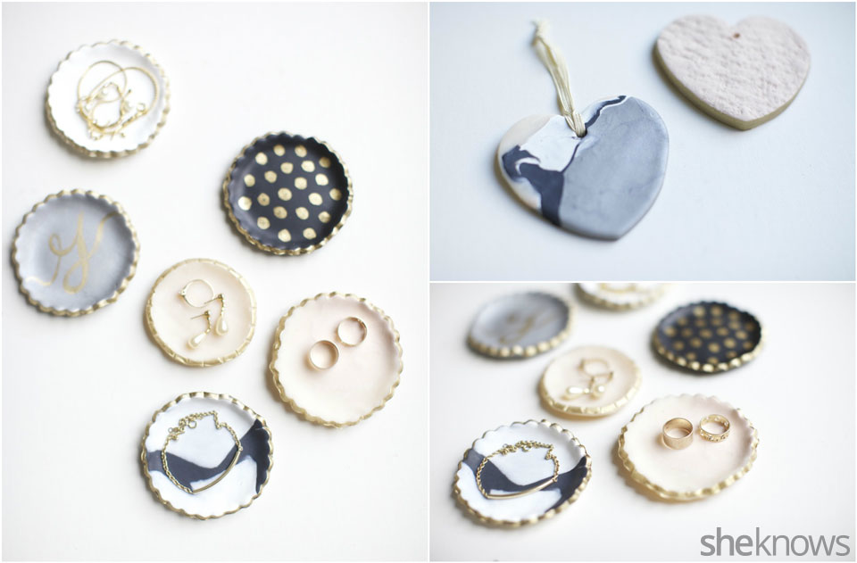 Mini DIY jewelry holders: Finished