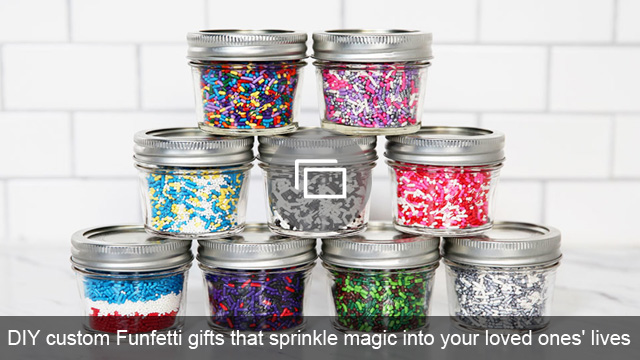 DIY custom Funfetti gifts that sprinkle magic into your loved