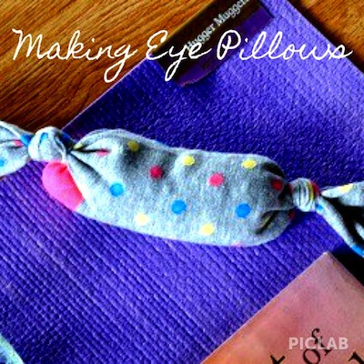 DIY eye pillow