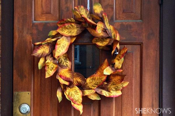 DIY fall dollar store wreath decor | Sheknows.ca - final product